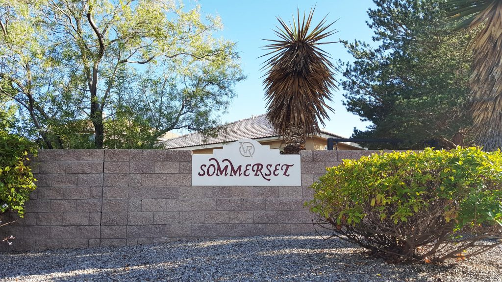 Sommerset neighborhood sign