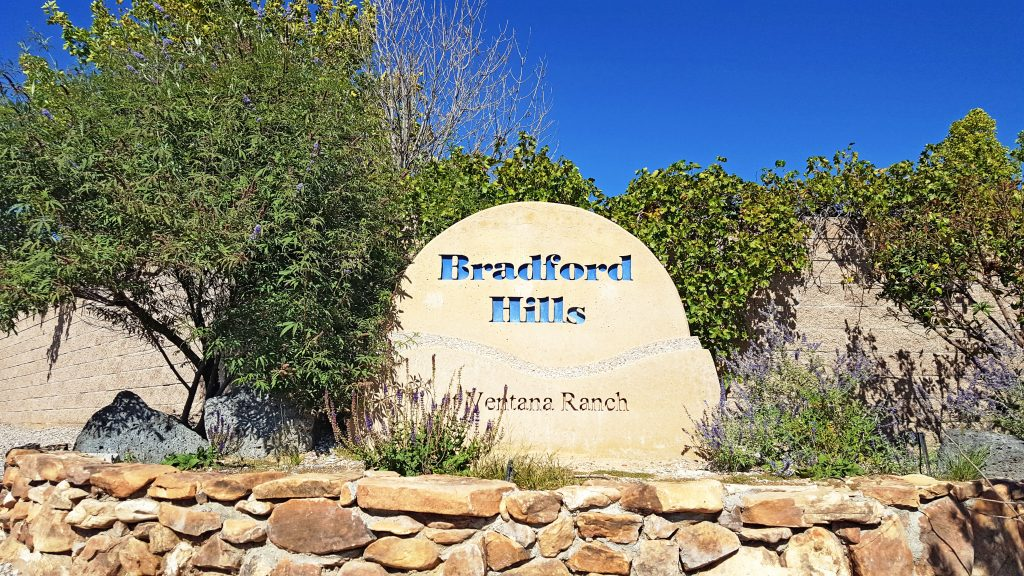 Bradford Hills Neighborhood Sign