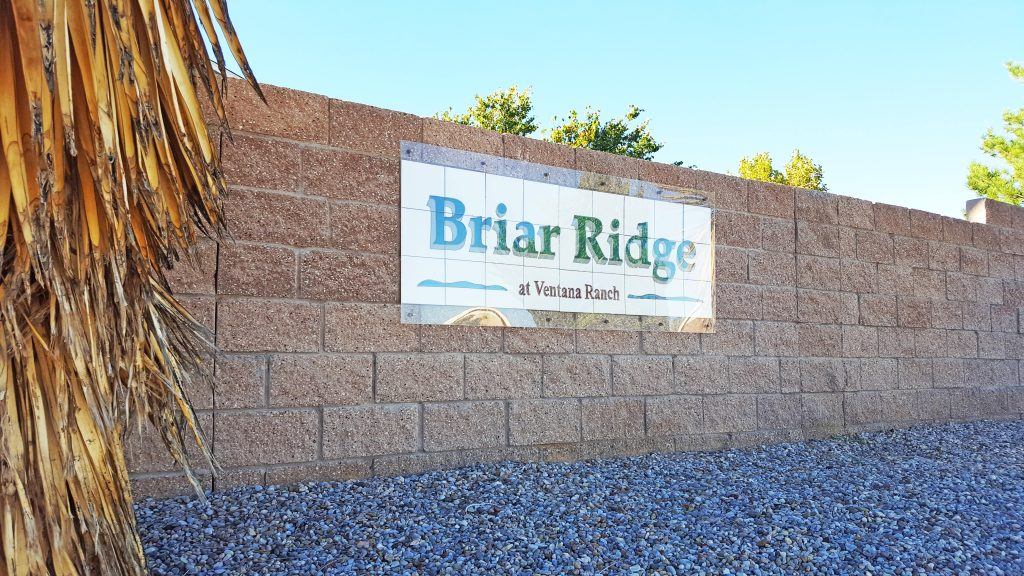 Briar Ridge Neighborhood Sign