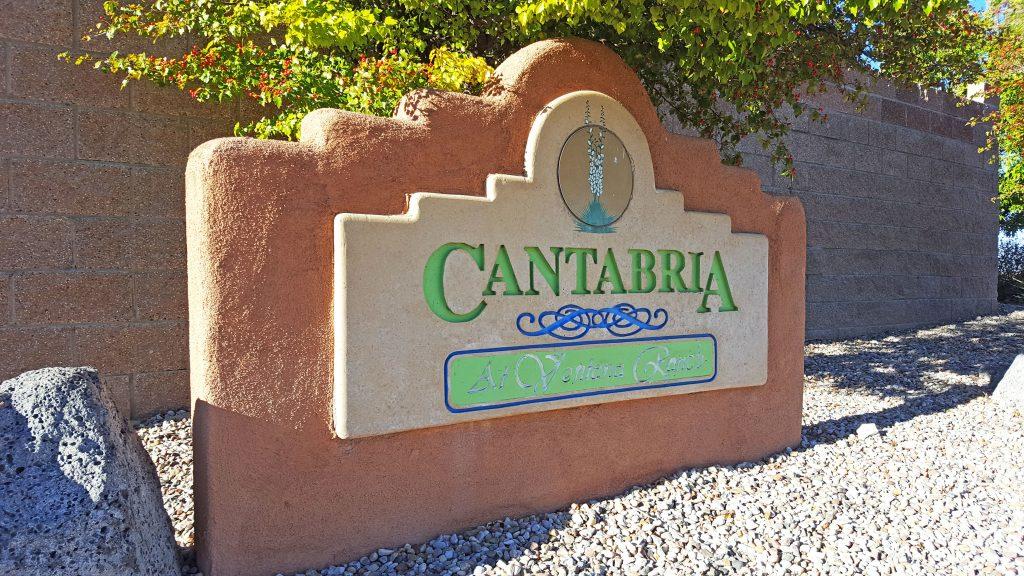 Cantabria Neighborhood Sign