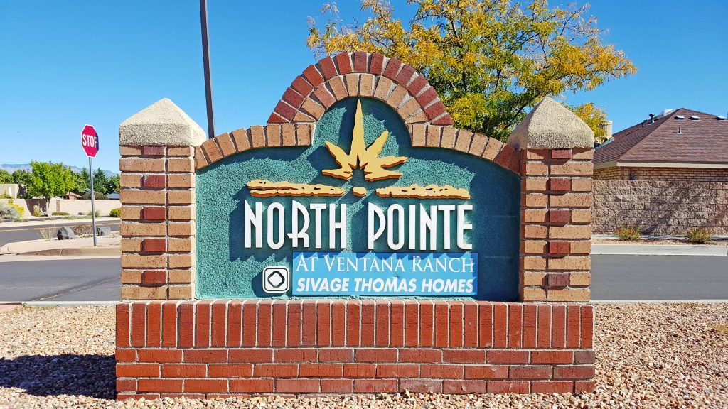 North Pointe Neighborhood Sign
