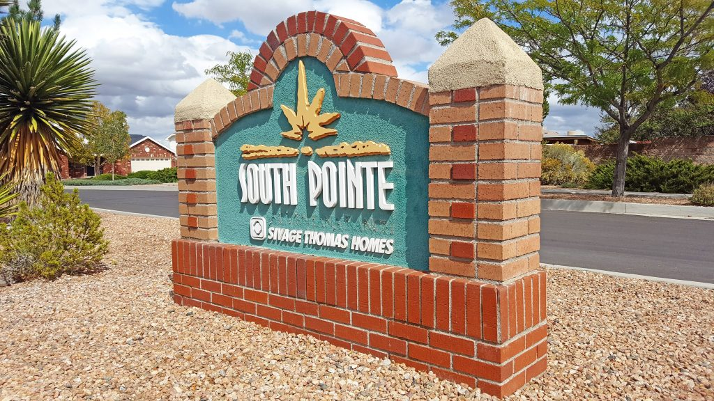 South Pointe Neighborhood Sign