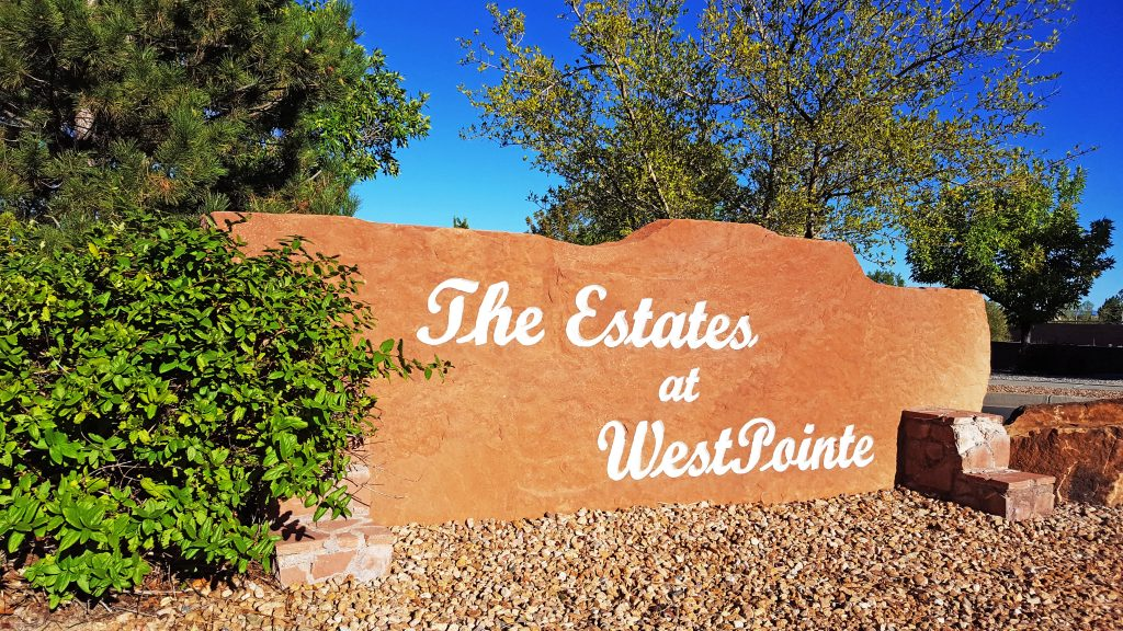 The Estates at West Pointe Neighborhood Sign