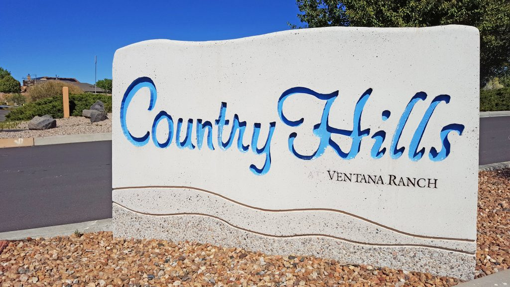 Country Hills neighborhood sign