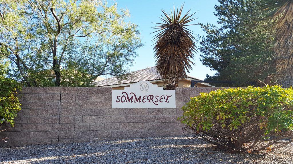 Sommerset neighborhood sign