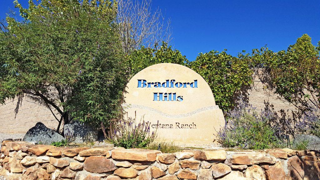 Bradford Hills Neighborhood Sign
