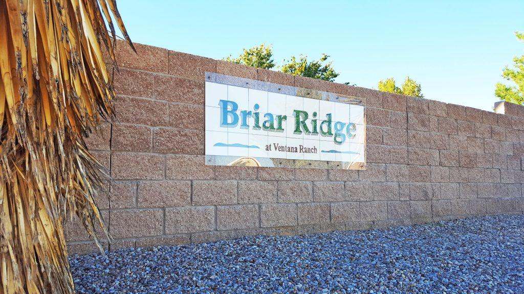 Briar Ridge Neighborhood Sign