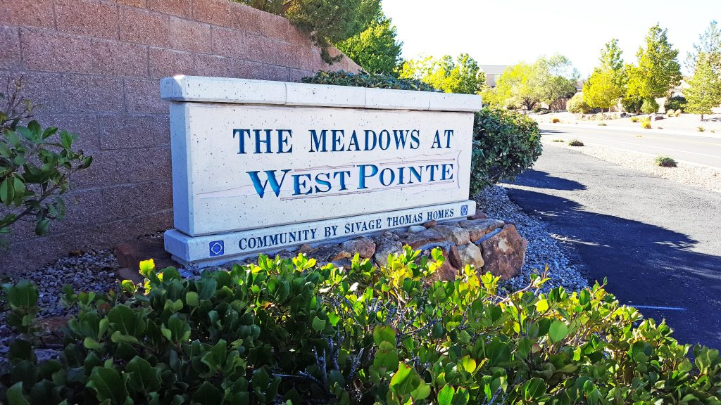 The Meadows at West Pointe Neighborhood Sign