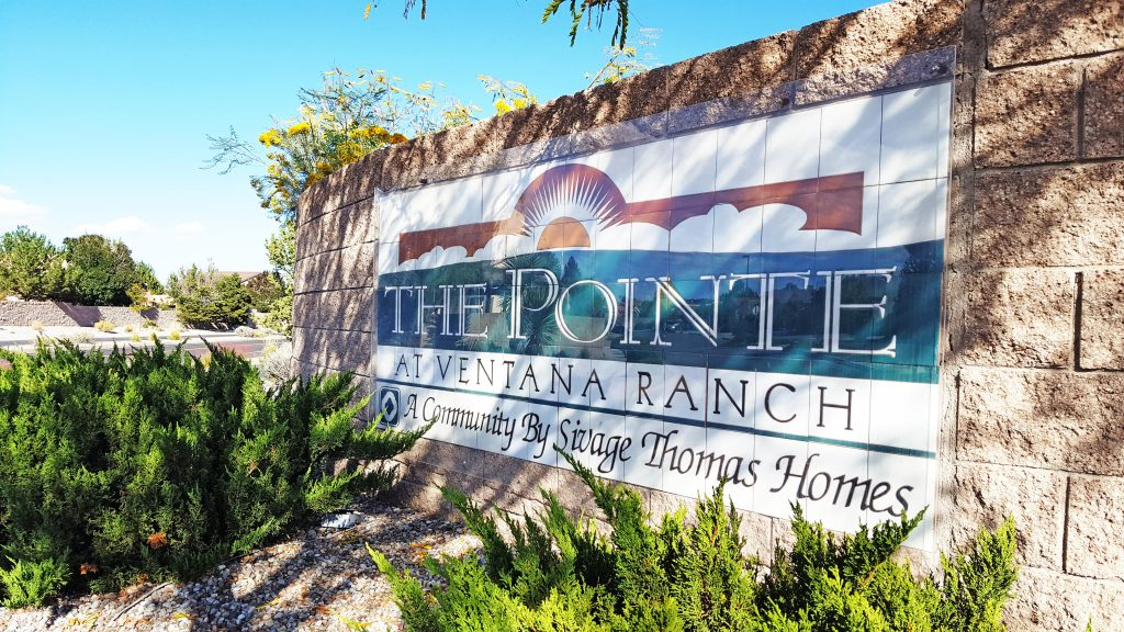 The Pointe Neighborhood Sign