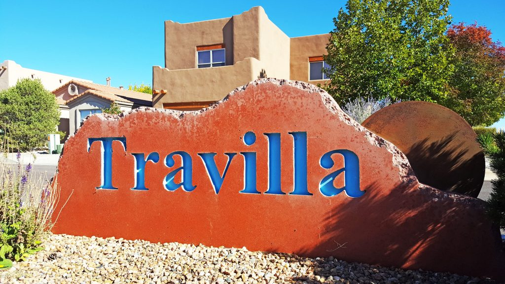 Travilla Neighborhood Sign