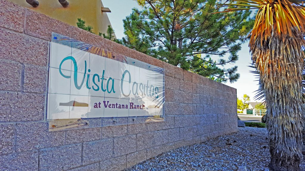 Vista Casitas Neighborhood Sign